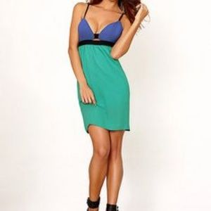 Frederick's of Hollywood Blue & Teal Dress